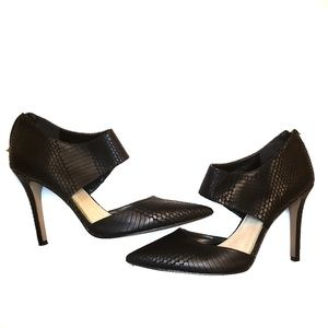 Jessica Simpson Coswell Snakeskin Embossed Heels